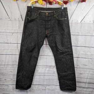 Levi's 501 Button Fly Black Jeans Size 36 x 32